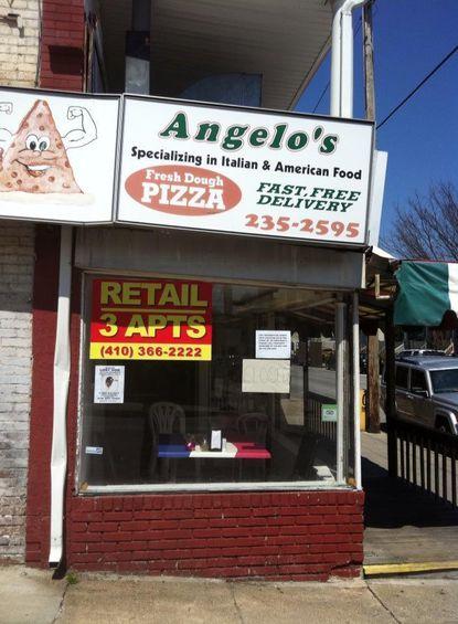 Angelo's pizza shop in Hampden
