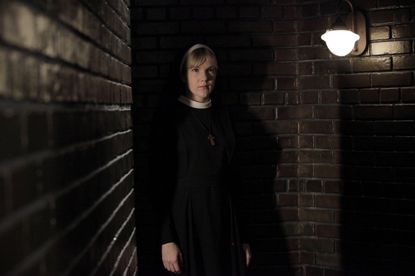 "Lily Rabe as Sister Mary Eunice on ""American Horror Story: Asylum."""