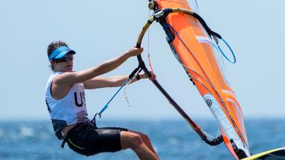 Farrah Hall, a Broadneck High graduate from Annapolis, finished full fleet racing in RS:X boardsailing class at the Tokyo Olympics in 15th place.