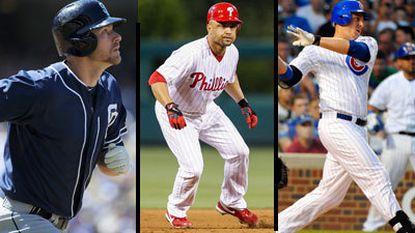 Chase Headley, Placido Polanco, Bryan LaHair