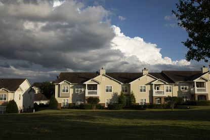 A condominium complex in suburban Cornelius, N.C. on July 8, 2020. President Donald Trump, on July 29, vowed to protect suburbanites from low-income housing being built in their neighborhoods, making an appeal to white suburban voters by trying to stir up racist fears about affordable housing and the people who live there.