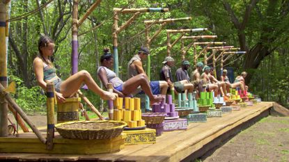 Baylor Wilson and the rest of the Survivors compete for Individual Immunity.
