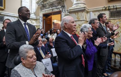 Special guests to the Maryland General Assembly watch in the House of Delegates as the 2019 session officially began Wednesday.