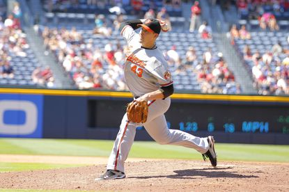 Jim Johnson picked up the save for the Orioles in their 2-0 win over the Braves.