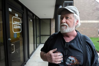 Navy veteran Doug Jones, 59, says he has had no problem getting appointments at the Glen Burnie VA Outpatient Clinic, though data shows that the clinic has the longest delays in the state.