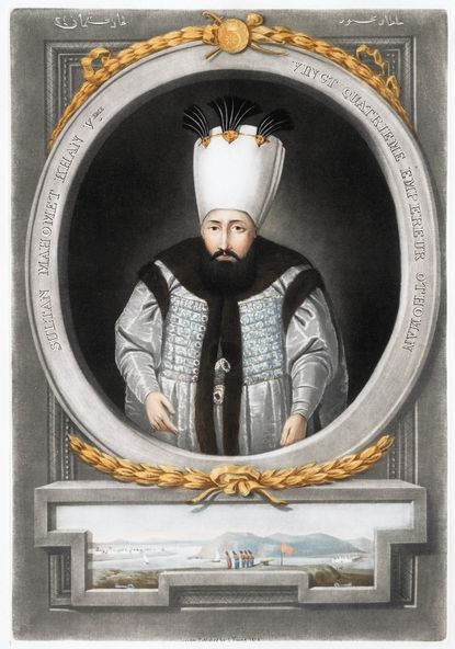 Portrait of Mahmud I, from a series of portraits of the emperors of Turkey.
