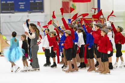Figure skaters glide out with spring show