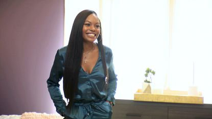 "Cierra Brooks, who grew up in East Baltimore, on the first episode of BET's ""The Grand Hustle."" She's competing to win a job with T.I.'s company and a $100,000 salary."