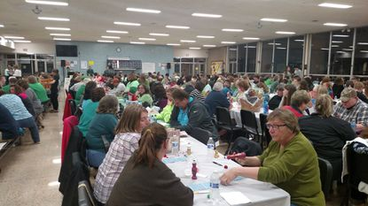 Dozens attend a previous year's South Carroll Instrumental Boosters Basket Bingo. This year's will be on Saturday, March 16.