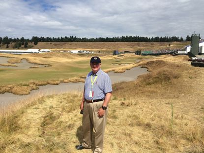Pikesville's Steve Levine at the U.S. Open at Chambers Bay in University Place, Wash., where he worked as a rules official for the first two rounds.