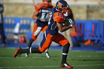 Morgan State wide receiver Andrew King runs for a long touchdown after a reception in the second quarter on Nov. 15, 2014.