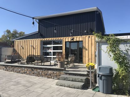 The new Funk House at Independent Brewing Company in Bel Air, where sours and barrel-aged beers will be brewed, is nearing completion.