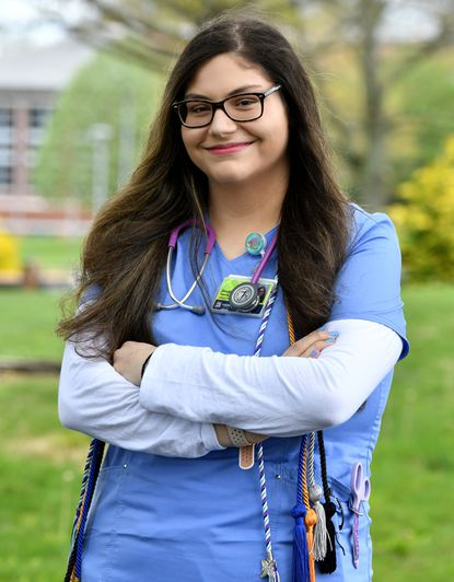 Harford Community College Nursing student Georgia Garcia hopes to go into pediatric oncology after graduating from the nursing program.