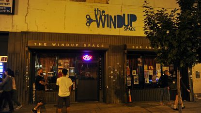 The exterior at The Windup Space.