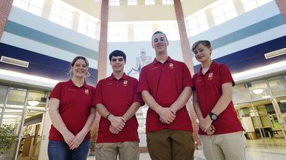 Century High School JROTC Academic Team members, from left, Mariana Caplan, P.J. Olson, Blake Rodgers and Ryley Brown will compete in the National Academic Bowl competition from June 20 to 25 in Washington, D.C.