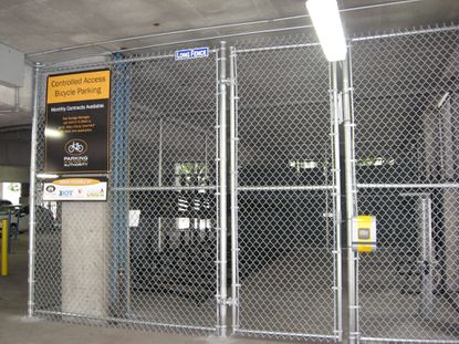 The Parking Authority of Baltimore is offering bicyclists a year of free access to its secured bicycle parking facility in the Lexington Street Garage near downtown.
