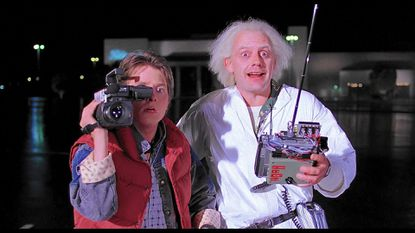 Michael J. Fox (left) and Christopher Lloyd in Back to the Future.