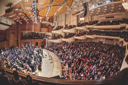 Inside Meyerhoff Symphony Hall during the BSO's centennial concert