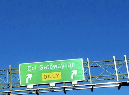The Columbia Gateway Drive sign along Rt. 175 in Columbia.