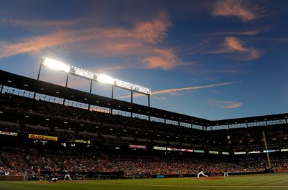 The Orioles playagainst the Minnesota Twins at Camden Yards on Aug. 21, 2015 in Baltimore.