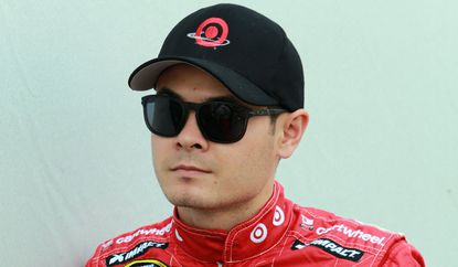 Kyle Larson, shown on March 22, underwent a series of medical tests after he fainted Saturday while finishing an autograph session at Virginia's Martinsville Speedway.