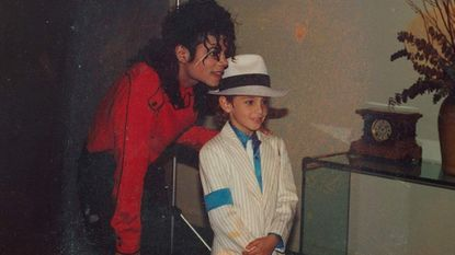 "Wade Robson (right) dresses like his idol, Michael Jackson, in the HBO documentary ""Leaving Neverland."""