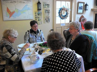 Friends enjoyed tea and treats at New Windsor Heritage's Tea at the Atlee House in New Windsor last year. Pictured clockwise, from left, are: Sally Stair, Pat Baile, Jeanne Carbaugh and Helen Hosfelt._- Original Credit: Submitted photo