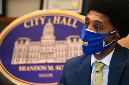Baltimore Mayor Brandon Scott at City Hall. December 24, 2020