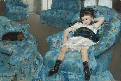 'Little Girl in a Blue Armchair' by Mary Cassatt