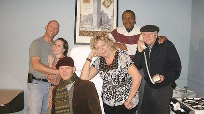 "The cast of ""Barefoot in the Park"" at Laurel Mill Playhouse includes, from left, Patrick Pase, Dana Medford, Jim Mahon, Maureen Rogers, Henry Green and Marvin Rogers. The show continues through April 1."