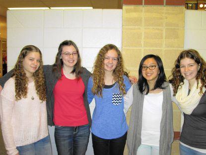 From left, Jessica Zinderman, Korie Scott, Annie Larkins, Rebecca Li, and Lauren Hayden.
