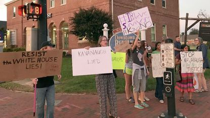 Group in downtown Bel Air protests Kavanaugh nomination