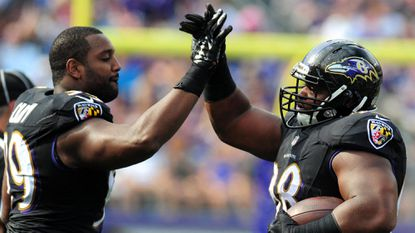 Ravens defensive linemen Chris Canty and Brandon Williams are part of a deep rotation that has worked for the Ravens all season.