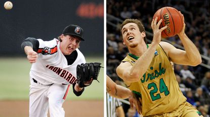 Pat Connaughton began his pro baseball career last summer with the Aberdeen IronBirds, and he's had a strong senior season with Notre Dame's men's basketball team.