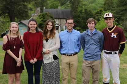 The 2017 Environmental Scholarship recipients are, from left, Kari Lagen, Maddy Clark, Natalie Clawson, Orman Morton, Nicholas Sulzbach and Alex Beam. Emma Bowditch is not pictured.