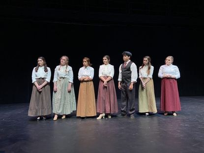 """Liberty High School's one act """"The 146 Point Flame"""" received Outstanding Sound Design and Outstanding Hair and Makeup Design recognitions at the 2020 Maryland State Thespian Festival."""