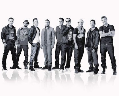 Members of New Kids on the Block and the Backstreet Boys perform at 1st Mariner Arena.