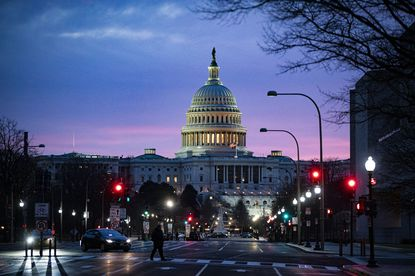 The Capitol at dawn in Washington on Monday, Dec. 28, 2020. The $900 billion stimulus bill that President Donald Trump finally signed into law on Sunday evening goes well beyond providing the $600 checks that became a huge sticking point in getting the legislation across the finish line.