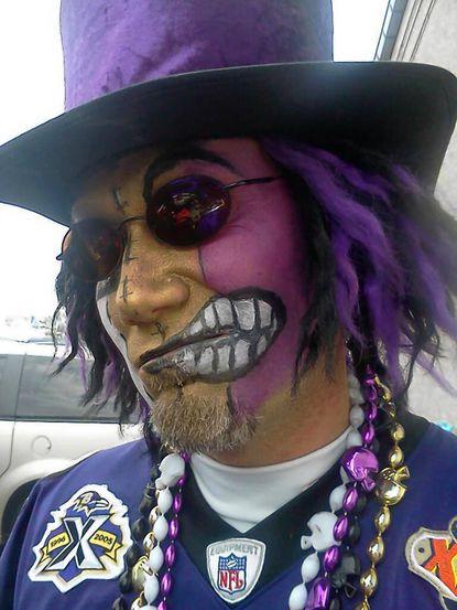 Ravens fan and Belcamp resident Kevin Jones.