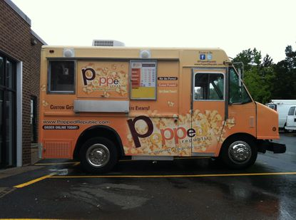 Someone has driven off with this gourmet popcorn food truck, the truck's owners say.