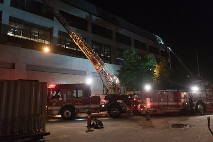Firefighters contain 2-alarm fire at Rickover Hall at Naval Academy