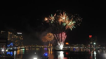 Baltimore, Md.--1/1/15-- Baltimore's New Year's Eve Spectacular welcomes the new year with music and a fireworks and light show display at midnight over the Inner Harbor. Baltimore Sun/Kenneth K. Lam DSC_1349 md-new-years-p13-eve lam