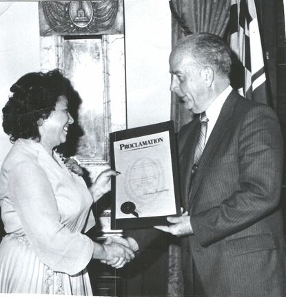 Delfina Pereda-Echeverria worked closely with Baltimore Mayor William Donald Schaefer.
