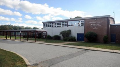 Baltimore County Police installed a speed camera at Cromwell Valley Elementary School on Monday.
