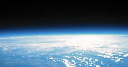 This photo was taken from a high altitude balloon constructed and launched in June by three Pennsylvania middle school girls. The balloon payload, including camera and other data measuring devices, was found Sunday in York County, Pa., near the Harford County border.